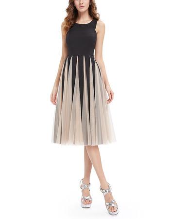 A-Line Knee Length Tulle Insert Skirt Homecoming Dresses