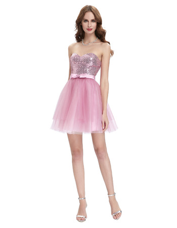 Cute Sweetheart Mini/ Short Homecoming/ Sweet Sixteen Dresses for Juniors