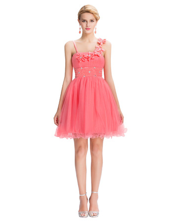 A-Line Spaghetti Straps Mini/ Short Homecoming Dresses for Juniors
