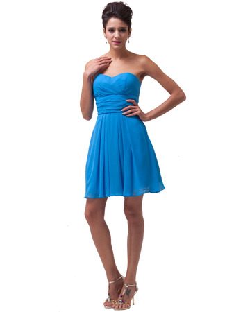 Custom Sweetheart Mini/ Short Chiffon Homecoming/ Graduation Dresses for Juniors