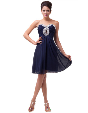 Lovely Sweetheart Mini/ Short Chiffon Homecoming Dresses for Juniors