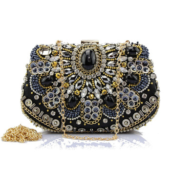 Fashionable Jewel Beading Rhinestone Evening Party Handbags/ Purses/ Clutches