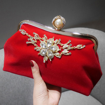 Classy Beaded Rhinestone Wedding Party Evening Handbags/ Purses/ Clutches