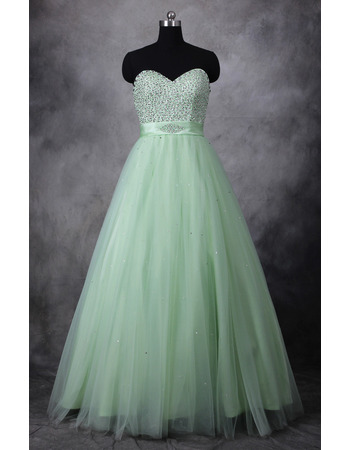 Gorgeous Shimmering Beading Sweetheart Full Length Tulle Prom/ Party/ Formal Dresses