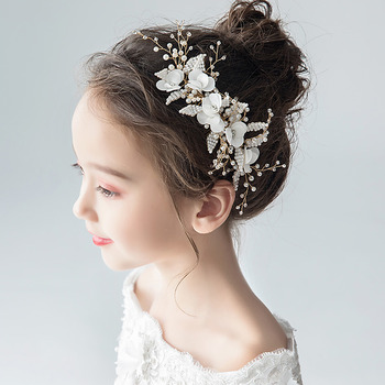 Cute Pearl Flower Girl Fascinator Hair Accessory for Wedding