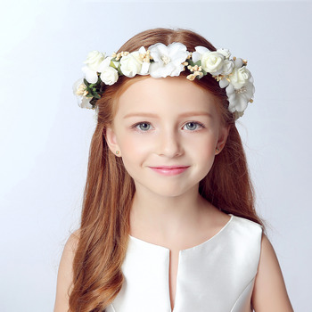 Beautiful Kids Girls Floral Hairband Headband Crown Party Wedding