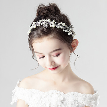 Cute Kids Girls Pearl Hairband Headband Hair Accessory for Wedding