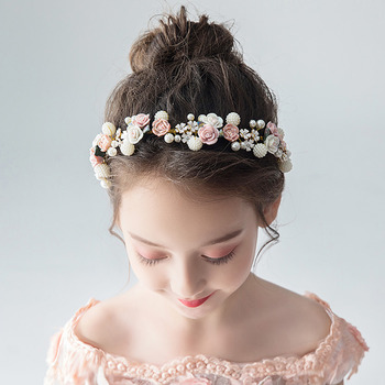 Flower Girl Floral Hairband Headband Hair Accessory for Wedding