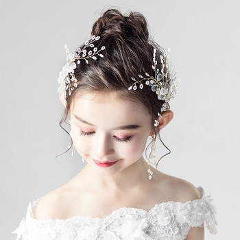 Flower Girl Hair Clip Fascinator Headwear Hair Accessory for Wedding