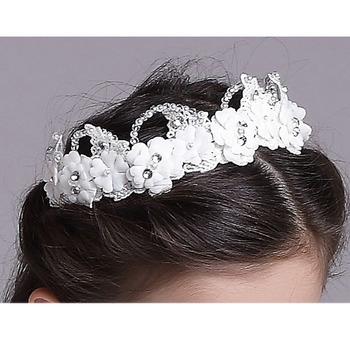 Flower Girl Floral Hoop Headband Hairband Headwear for Wedding