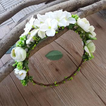 Flower Girl Floral Headband Hairband Headwear Hair Accessory