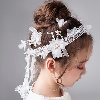 Flower Girl Lace Headband Hairband Headwear Hair Accessory for Wedding