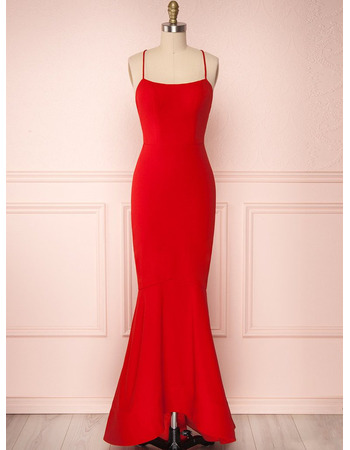 Simple Sweetheart Neckline Backless Chiffon Evening Dresses with Strappy Back