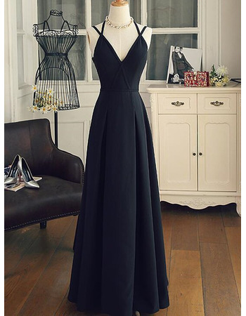 Enchanting Deep V-neckline Satin Evening Dresses with Crisscross Bow Back