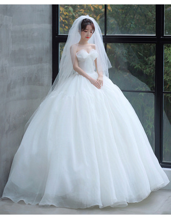 Beautiful & Princess Ball Gown Organza Wedding Dresses with Big Bow Front Top
