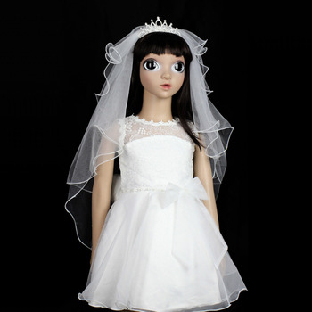 Perfect Holy Communion Flower Girl Tiara Headpiece with Comb Veil