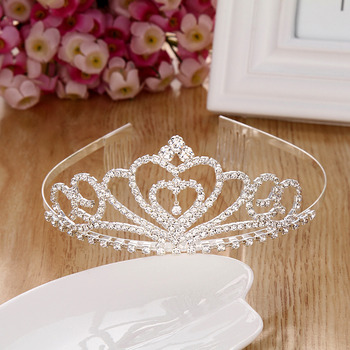 Princess Sparkling Crystals Silver First Communion Flower Girl Tiara/ Wedding Headpiece