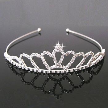 Stunning Crystals Silver First Communion Flower Girl Tiara/ Wedding Headpiece