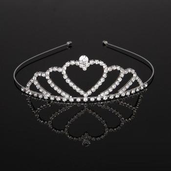 New design Crystals Heart-inspired Silver First Communion Flower Girl Tiara/ Wedding Headpiece