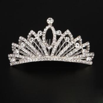 Perfect Elegant Crystals Silver First Communion Flower Girl Tiara/ Wedding Headpiece