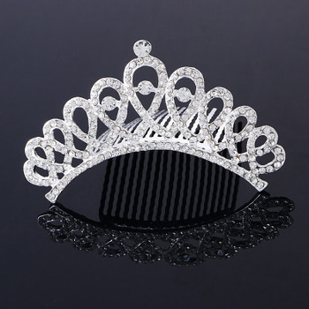 Perfect Elegant Crystals Silver First Communion Flower Girl Tiara Comb