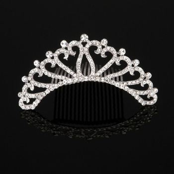 Stylish New Design Crystal First Communion Flower Girl Tiara Comb
