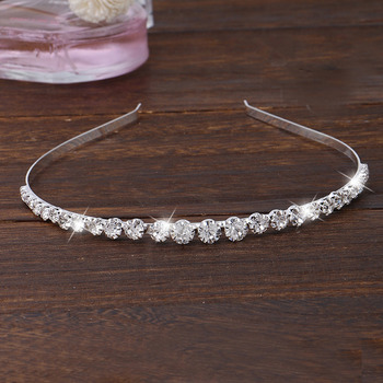Adorable Sparkling Crystal Silver First Communion Flower Girl Tiara/ Wedding Headpiece