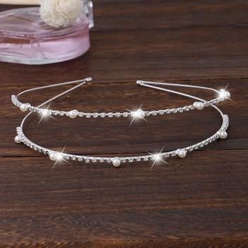 Adorable Sparkling Crystal Double Silver First Communion Flower Girl Tiara/ Wedding Headpiece