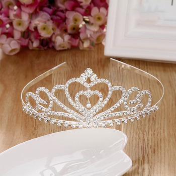 Cute New Design Crystal Heart-inspired First Communion Flower Girl Tiara Comb Crown