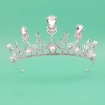 Beautiful Crystal Rhinestone Leaf-inspired Silver First Communion Flower Girl Tiara/ Wedding Headpiece