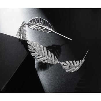 Stylish New Design Crystal Leaf-inspired Silver First Communion Flower Girl Tiara/ Wedding Headpiece