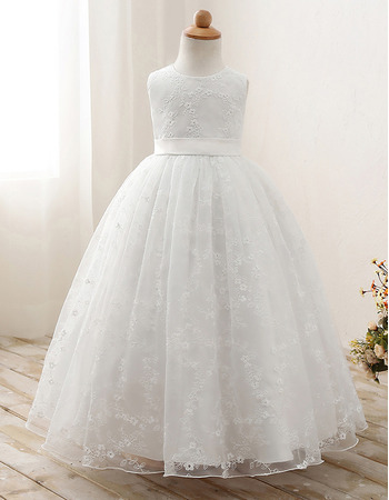 Charming Ball Gown Lace First Holy Communion Dresses/ Flower Girl Dresses