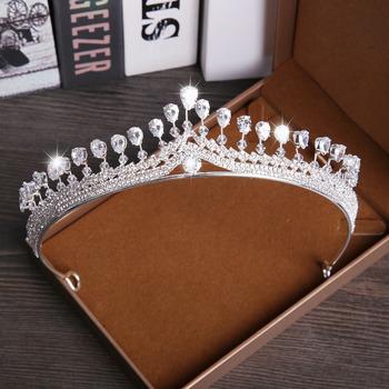 Twinkling Crystal Bridal Tiara/ Princess Bride Crown/ Silver Bridal Headpiece