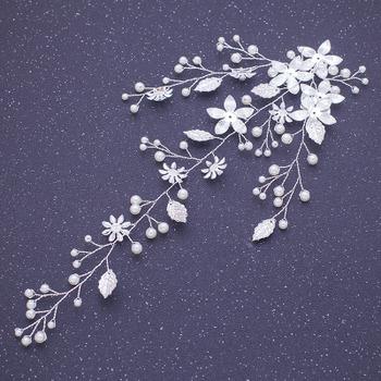 Perfect Crystal Bridal Tiara/ Bridal Headpiece with Leaf-inspired/ Floral Wedding Hair Vine