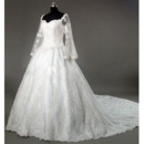 Classic Ladylike Elegant Wedding Dress/ A-Line Sweetheart Chapel Satin Lace Beading with Embroider Bridal Gown