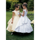 Ball Gown Cap Sleeves Beading First Communion Dresses with Split Back