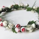 Pretty Simulation of Small Rose Bride Hair Ornaments/ Garland/ Wreath