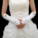 Elastic Satin Elbow Bow Wedding Gloves