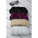 Unusual Satin Evening Handbags/ Clutches/ Purses with Rhinestone