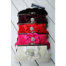Morden Satin Evening Handbags/ Clutches/ Purses with Flower