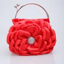 Unique Satin Evening Handbags/ Clutches/ Purses with Flower