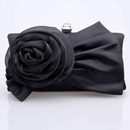 Classic Satin Evening Handbags/ Clutches/ Purses with Flower