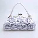 Hot-sale Satin Evening Handbags/ Clutches/ Purses with Flower