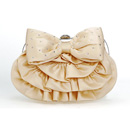 Trend Satin Evening Handbags/ Clutches/ Purses with Bowknot