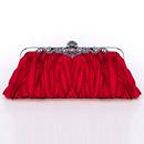 Stylish Satin Evening Handbags/ Clutches/ Purses with Rhinestone