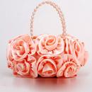 Fahionble Silk Evening Handbags/ Clutches/ Purses with Flower