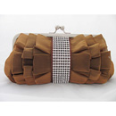 Elegant Silk Evening Handbags/ Clutches/ Purses with Rhinestone