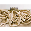 Simple Silk Evening Handbags/ Clutches/ Purses with Flower