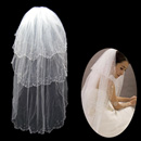 3 Layers Tulle Wedding Veil with Beading