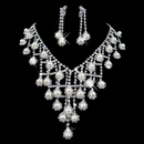 Luxious Crystal Earring Necklace Set Wedding Bridal Jewelry Collection